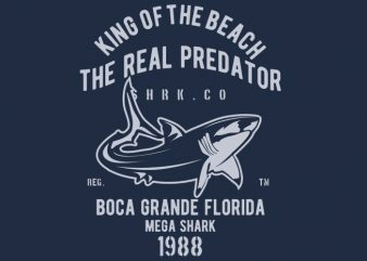 Shark Real Predator t-shirt design