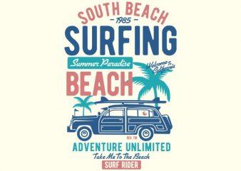 South Beach vector t-shirt design buy t shirt design