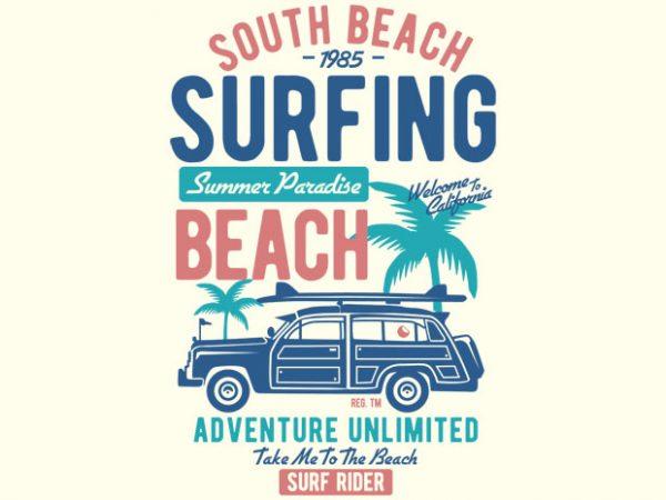 South Beach vector t-shirt design