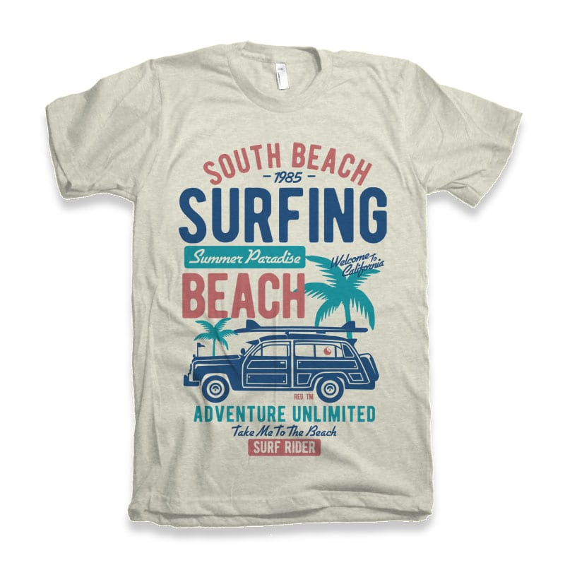 South Beach vector t-shirt design buy t shirt design