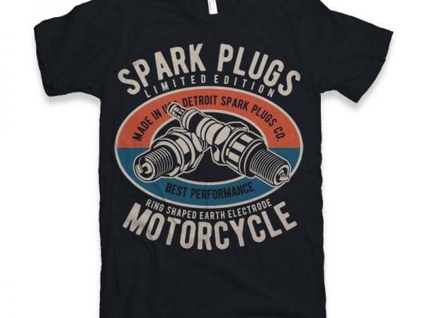 Spark Plugs Vector t-shirt design