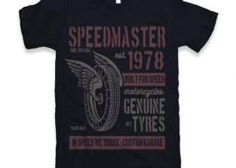 Speed Master Graphic tee design buy t shirt design