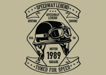 Speedway Legend Helmet t-shirt design t shirt vector