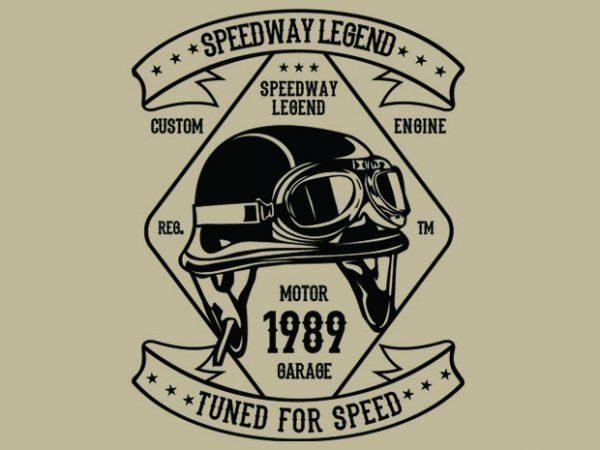 Speedway Legend Helmet t-shirt design buy t shirt design