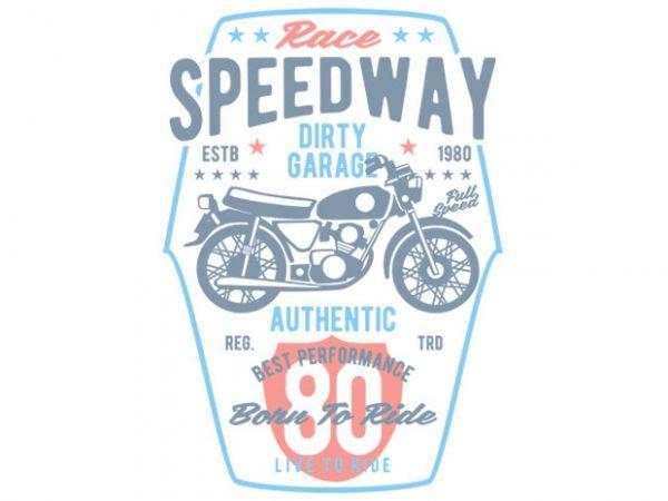 Speedway Motorcycle t-shirt design buy t shirt design