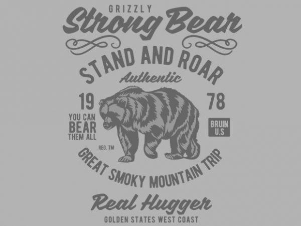 Strong Bear Vector T-shirt design buy t shirt design