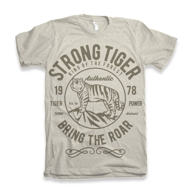 Strong Tiger vector tshirt design buy t shirt design