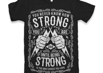Strong Vector t-shirt design buy t shirt design