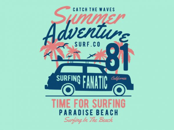 Summer Adventure tshirt design buy t shirt design