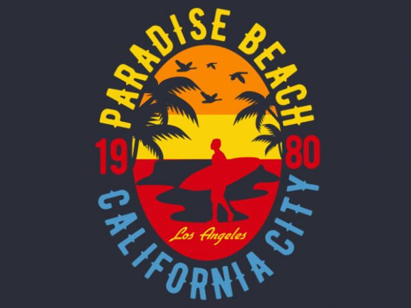 Sunshine Paradise tshirt design buy t shirt design
