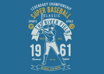Super Baseball tshirt design