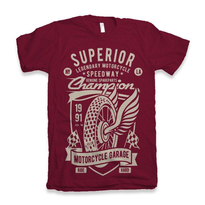 Superior Motorcycle Garage buy t shirt design