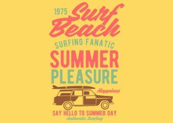 Surf Beach t-shirt design