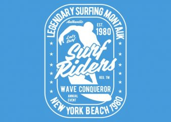Surf Rider tshirt design buy t shirt design