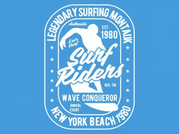 Surf Rider tshirt design