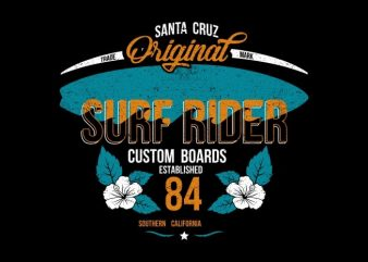 Surf Rider t shirt template vector