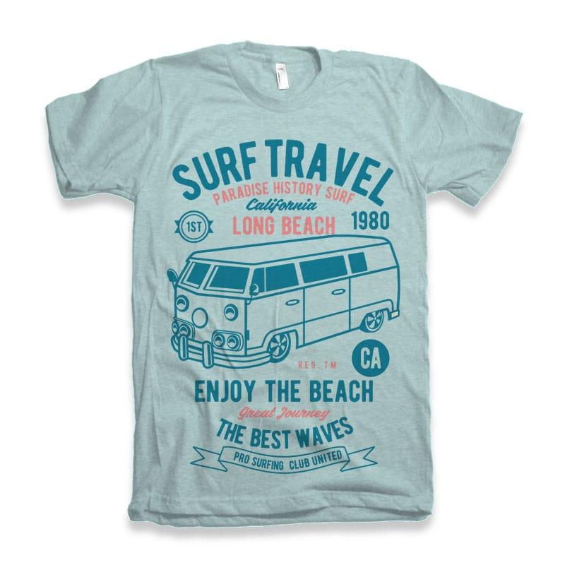 Surf Travel tshirt design buy t shirt design