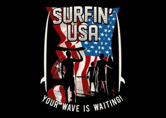 The Surfin U.S buy t shirt design