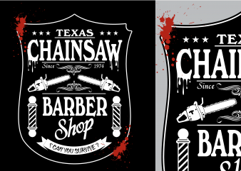 Texas Chainsaw Barber Tshirt Design