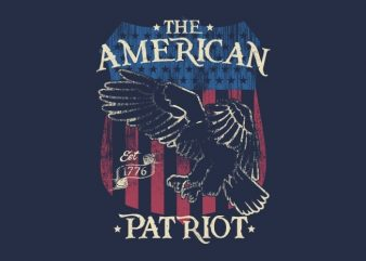 The American Patriot buy t shirt design
