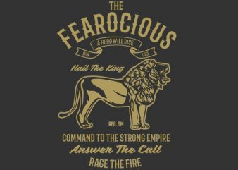 The Fearocious tshirt design buy t shirt design