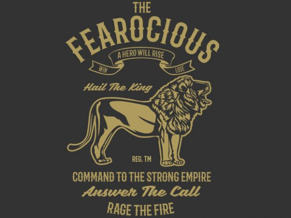 The Fearocious tshirt design buy t shirt design