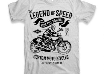 The Legend Of Speed t-shirt design buy t shirt design