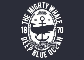 The Mighty Whale t-shirt design buy t shirt design