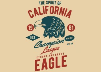 The Spirit Of California t-shirt design buy t shirt design