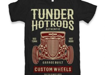 Thunder Hot Rods Vector t-shirt design buy t shirt design