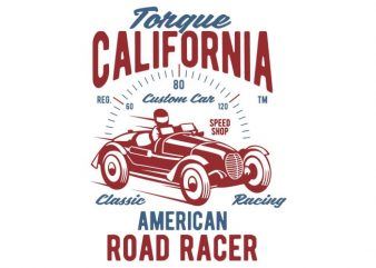 Torque California tshirt design buy t shirt design