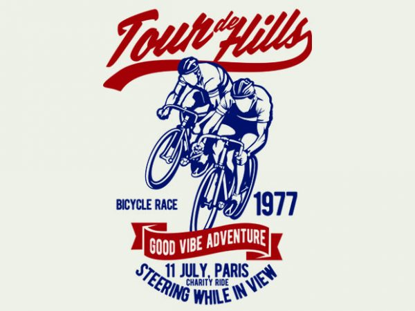 Tour De Hills t-shirt design buy t shirt design