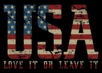 USA – Love It Or Leave It t shirt template
