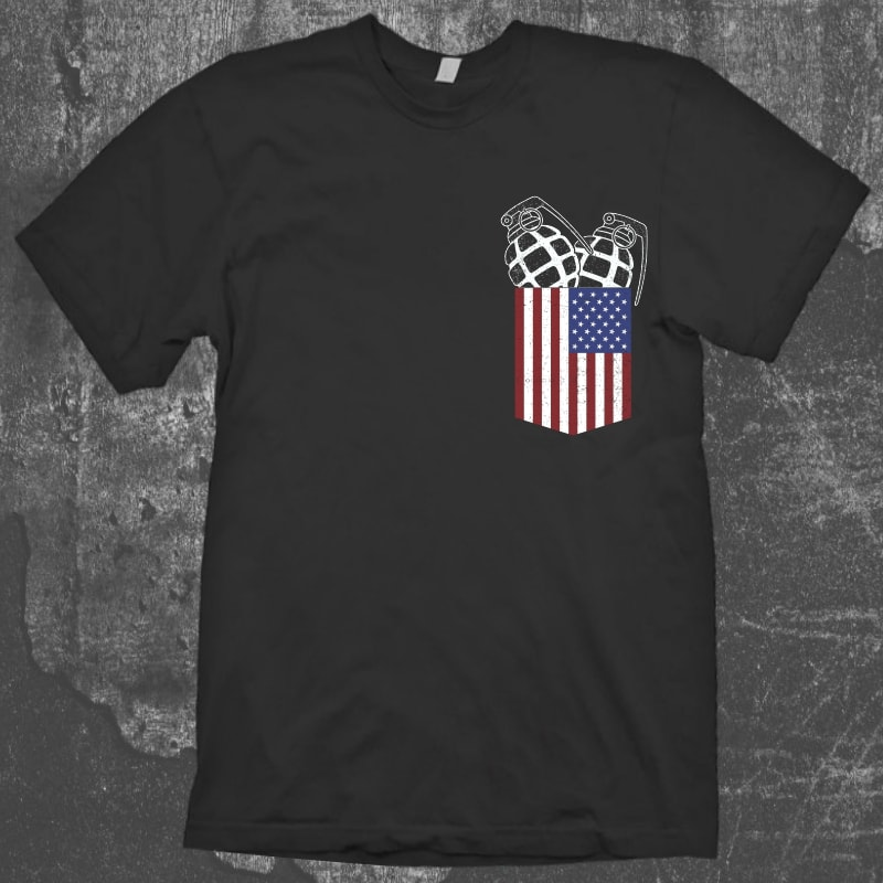 USA Pocket Granade buy t shirt design