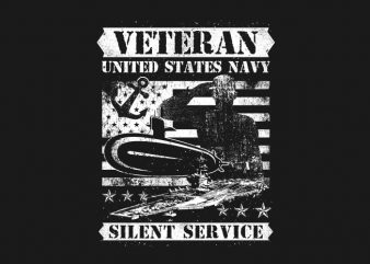 Veteran US Navy Silence Service buy t shirt design