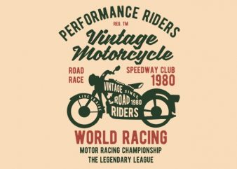 Vintage Motorcycle t-shirt design buy t shirt design