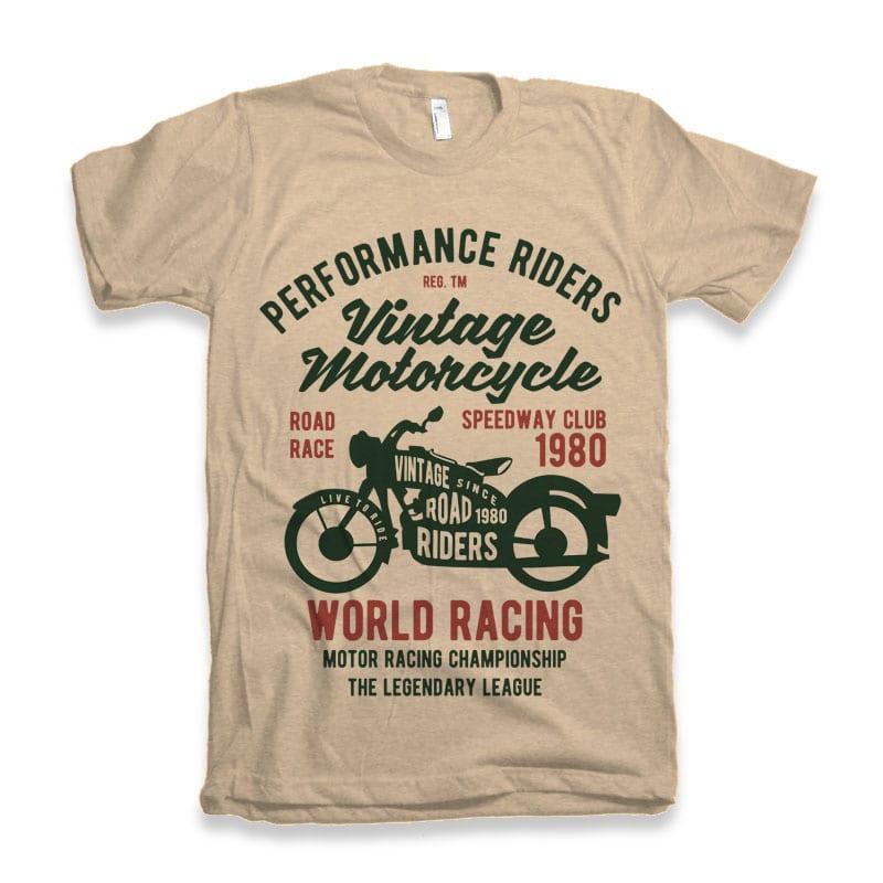 Vintage Motorcycle t-shirt design buy t shirt design