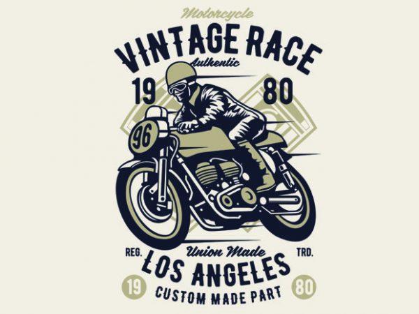Vintage Race t-shirt design buy t shirt design