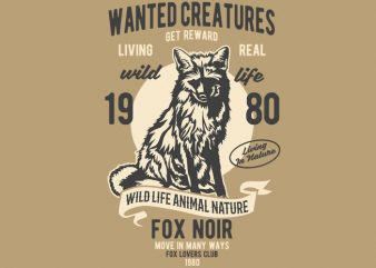 Wanted Creature t-shirt design buy t shirt design