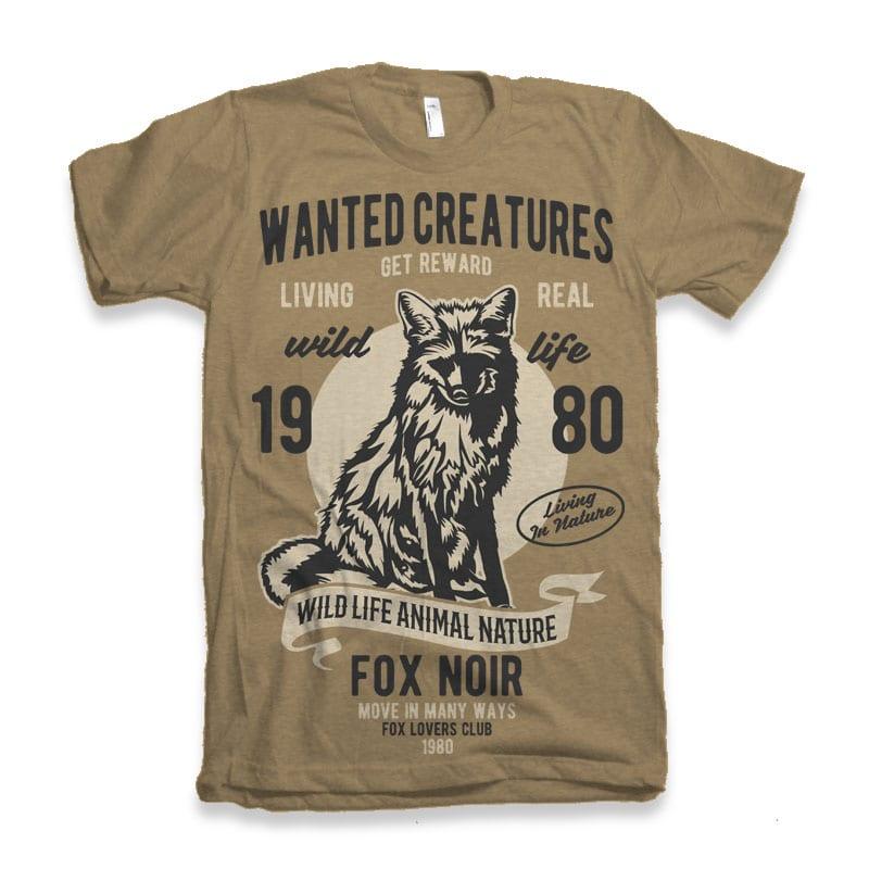 Wanted Creature t-shirt design buy t shirt design