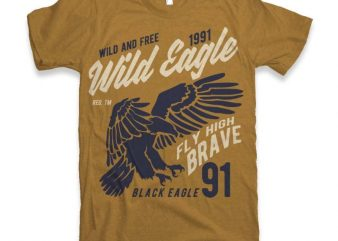 Wild Eagle t-shirt design t shirt vector