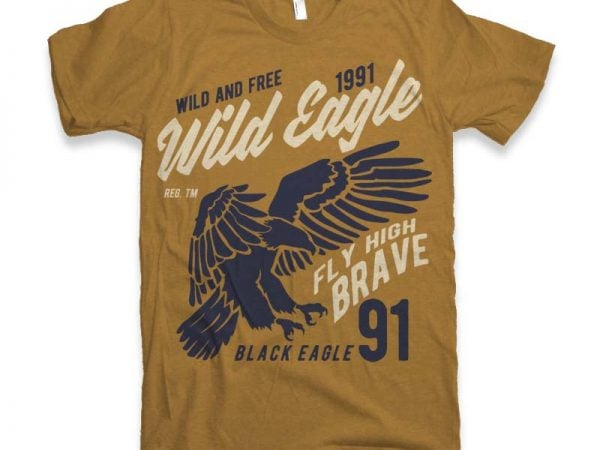 Wild Eagle t-shirt design buy t shirt design