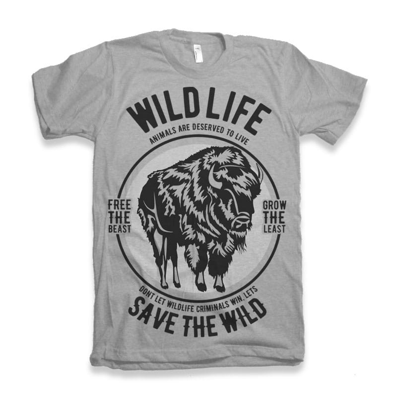 Wild Life t-shirt design buy t shirt design