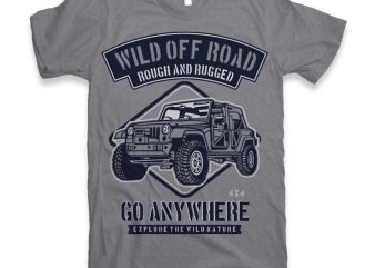 Wild Off Road Graphic tee design t shirt template