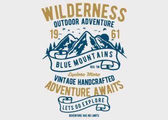 Wilderness t-shirt design buy t shirt design