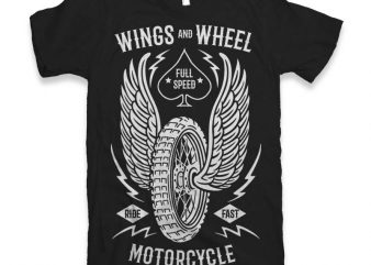 Wings And Wheel Vector t-shirt design