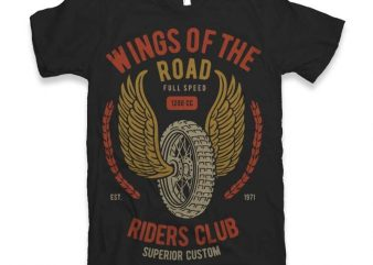 Wings Of The Road Vector t-shirt design t shirt template