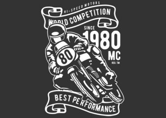 World Competition Superbike t shirt template