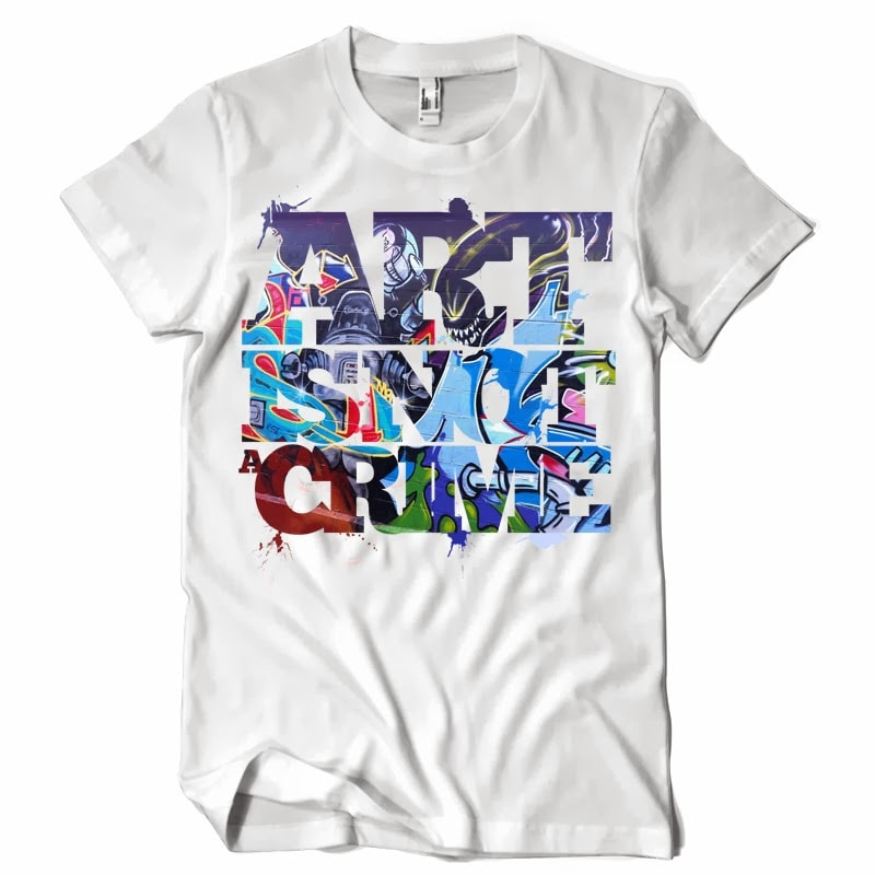 Art is not a Crime buy t shirt design