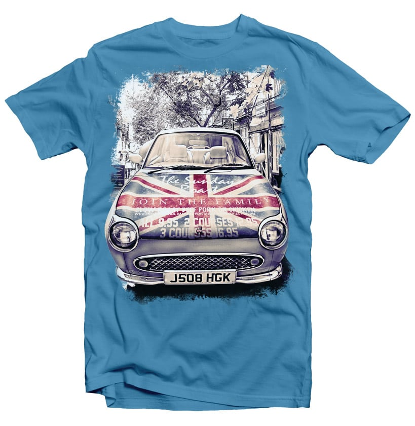 London Car buy t shirt design